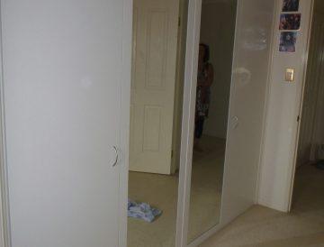 Melamine and mirror doors