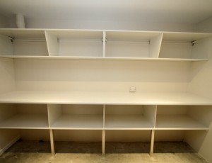 garage work bench shelving