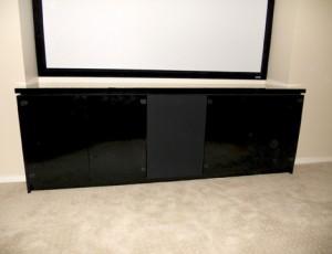 modern black entertainment cabinets